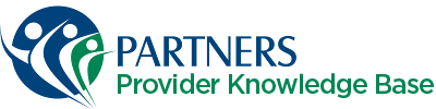 Partners Behavorial Health Management – Provider Knowledge Base